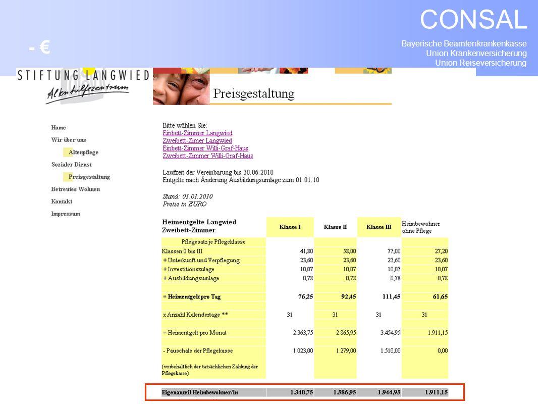 Bayerische Beamtenkrankenkasse Union Krankenversicherung Union Reiseversicherung CONSAL -