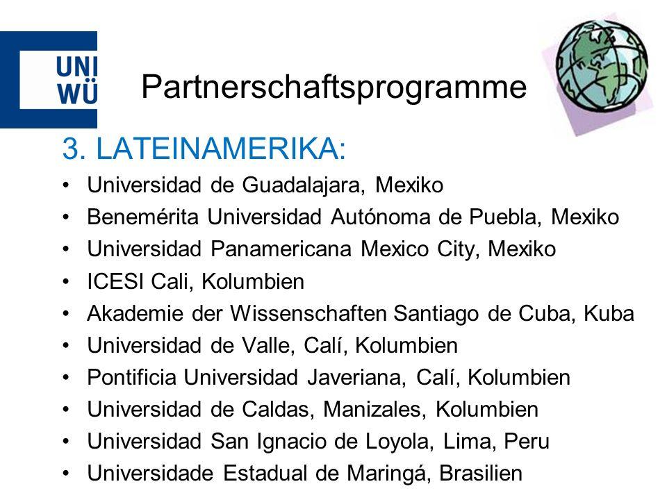 Partnerschaftsprogramme 3.