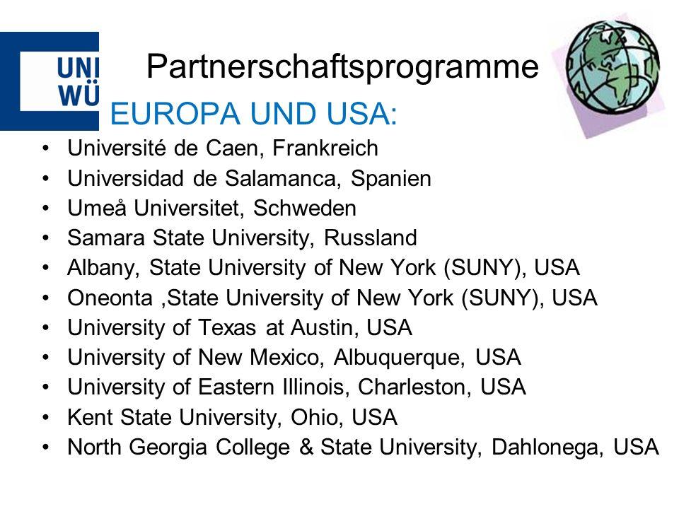 Praktikum im Ausland PROMOS für Praktika weltweit Voraussetzungen: Praktika mit fachlichem Bezug im Nicht-ERASMUS-Raum Mindestdauer 6 Wochen, max.