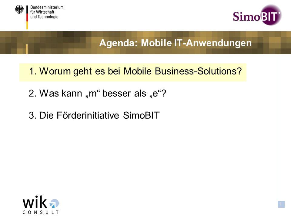 0 Mobile IT-Anwendungen in der öffentlichen Verwaltung Die Förderinitiative SimoBIT SimoBIT-Talk Aachen, 16.