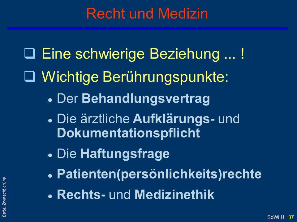 SoWi Ü - 36 Barta: Zivilrecht online § 19 Abs 2 EKHG (1) Unberührt bleiben die Vorschriften des Allgemeinen bürgerlichen Gesetzbuchs... (2) Auch dort,