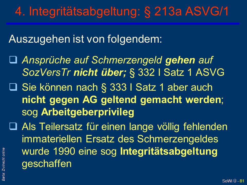 SoWi Ü - 80 Barta: Zivilrecht online 3. Arbeitgeber-Privileg: § 333 ASVG/1 qWorin liegt die Rechtfertigung? - Argument des Betriebsfriedens ! AG-AN-Be