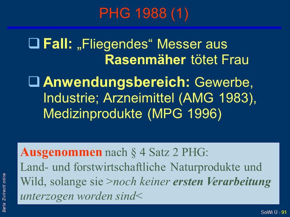 SoWi Ü - 90 Barta: Zivilrecht online 13. Legaldefinition des Arbeitsunfalls qArbeitsunfälle sind nach § 175 Abs 1 ASVG: Unfälle, die sich im örtlichen