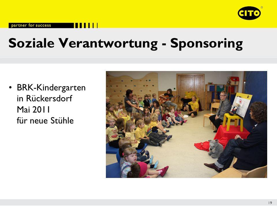 19 Soziale Verantwortung - Sponsoring BRK-Kindergarten in Rückersdorf Mai 2011 für neue Stühle