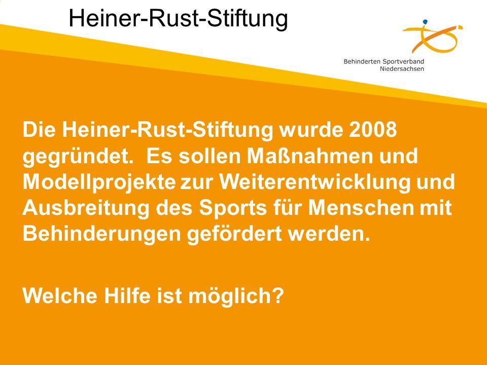 Die Heiner-Rust-Stiftung wurde 2008 gegründet.