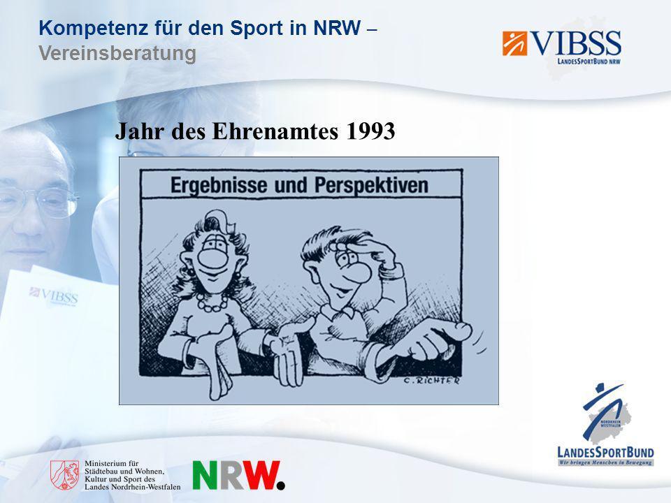 Kompetenz für den Sport in NRW – Vereinsberatung Jahr des Ehrenamtes 1993