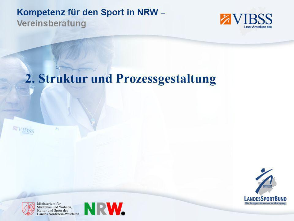 Kompetenz für den Sport in NRW – Vereinsberatung 2. Struktur und Prozessgestaltung