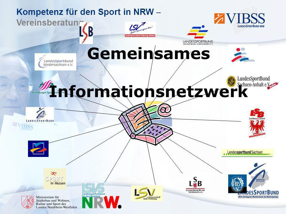 Kompetenz für den Sport in NRW – Vereinsberatung Gemeinsames Informationsnetzwerk