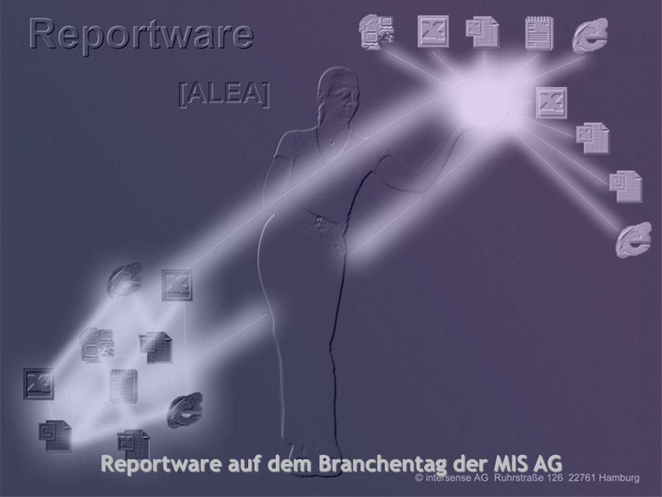 intersense AG, Branchentag Versicherungen der MIS AG Stand: 10.09.2001 1 Modernes Reporting für Versicherungsunternehmen Modernes Reporting für Versic