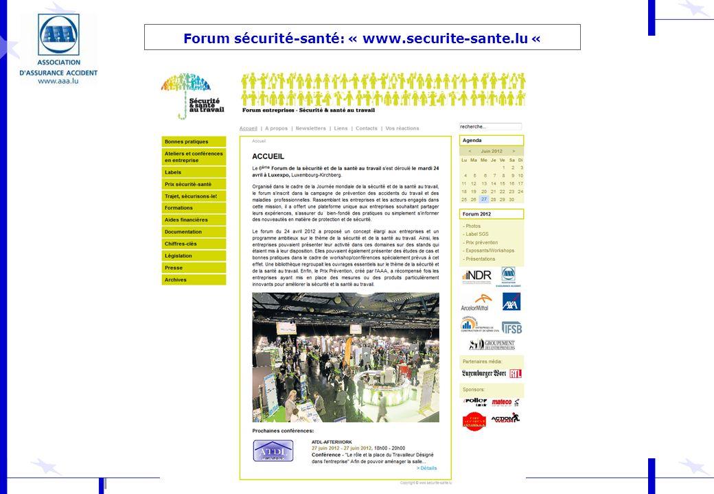 Forum sécurité-santé: « www.securite-sante.lu «