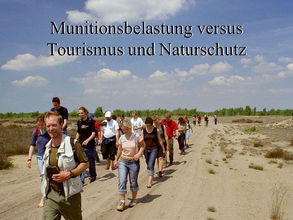 Munitionsbelastung versus Tourismus und Naturschutz