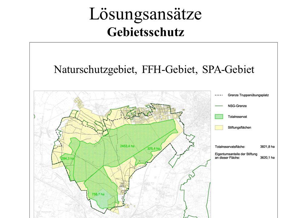 Lösungsansätze Gebietsschutz Naturschutzgebiet, FFH-Gebiet, SPA-Gebiet