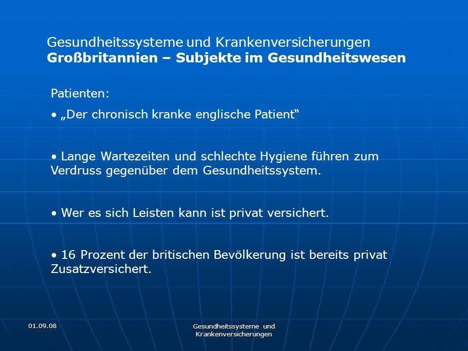 01.09.08 Gesundheitssysteme und Krankenversicherungen Großbritannien – Subjekte im Gesundheitswesen Patienten: Der chronisch kranke englische Patient