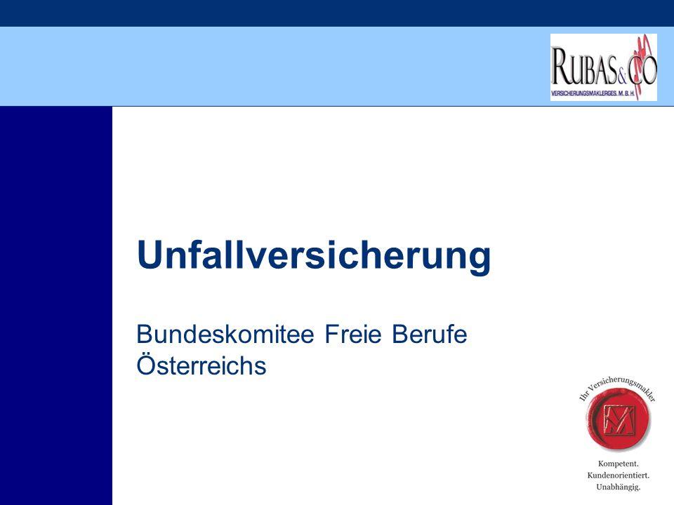 Unfallversicherung Bundeskomitee Freie Berufe Österreichs