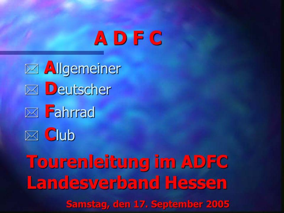 Probleme und Lösungsansätze * Die Gewissheit, bei einer Panne Hilfe zu bekommen, ist für nicht wenige Leute ein wichtiger Grund, sich geführten ADFC-Touren anzuschließen.