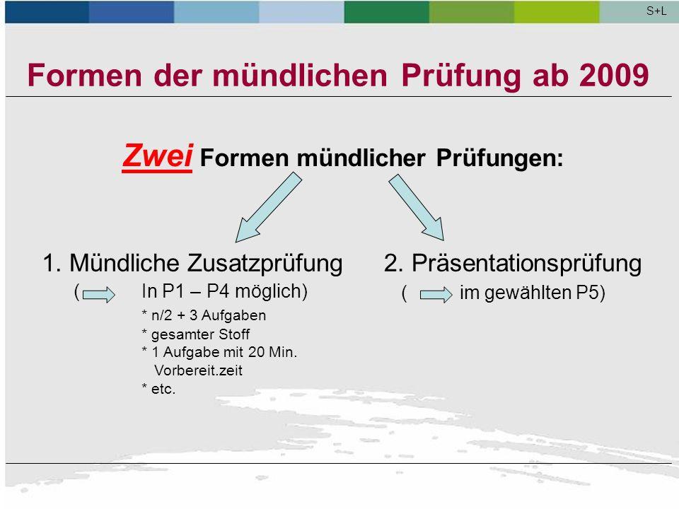 Präsentationsprüfungen an beruflichen Gymnasien S+L