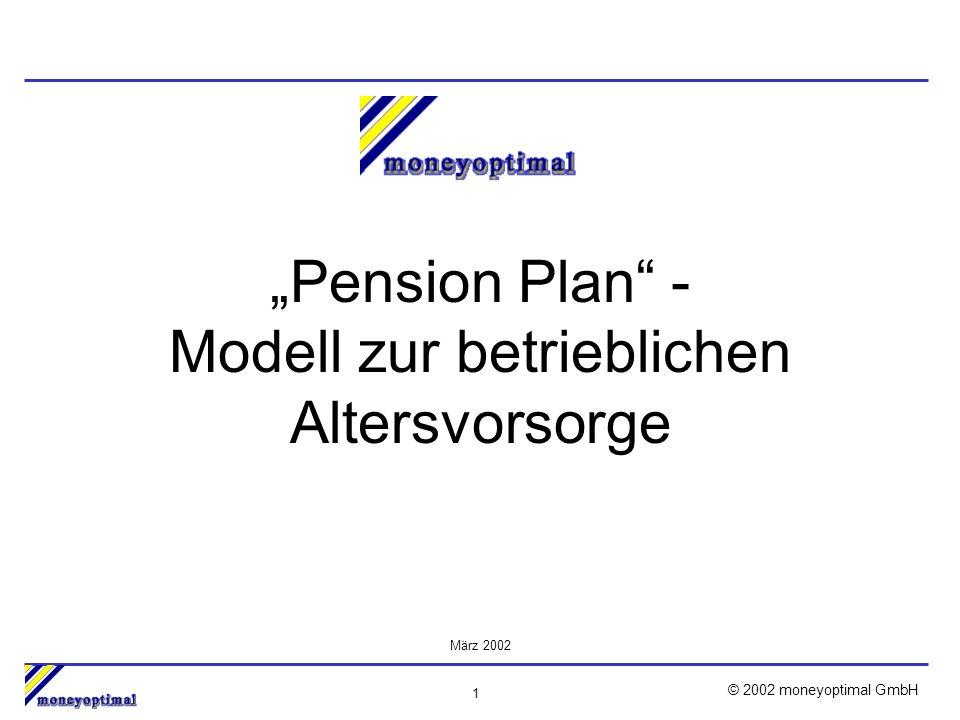 2 © 2002 moneyoptimal GmbH Inhalt 1.Möglichkeiten und gesetzliche Rahmenbedingungen 2.Ihre Anforderungen als Arbeitgeber 3.Unsere Empfehlung 4.Zahlen und Fakten 5.Vorteile für Sie und Ihre Arbeitnehmer 6.Weitere Informationen
