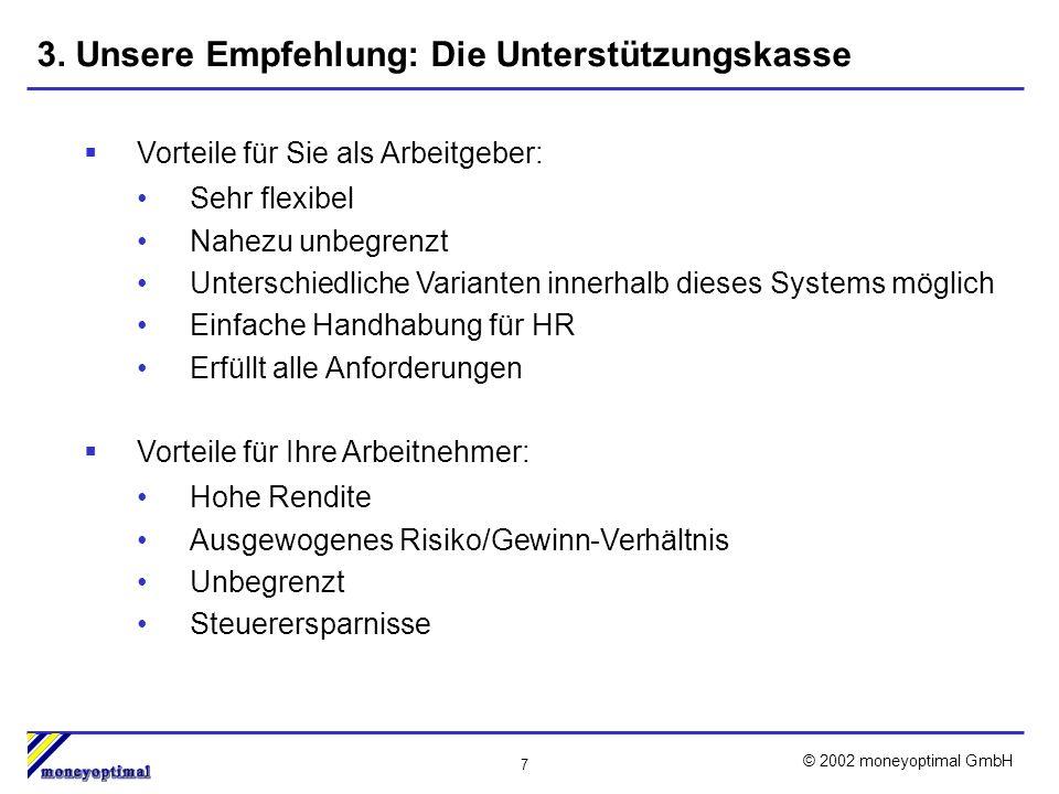 7 © 2002 moneyoptimal GmbH 3.