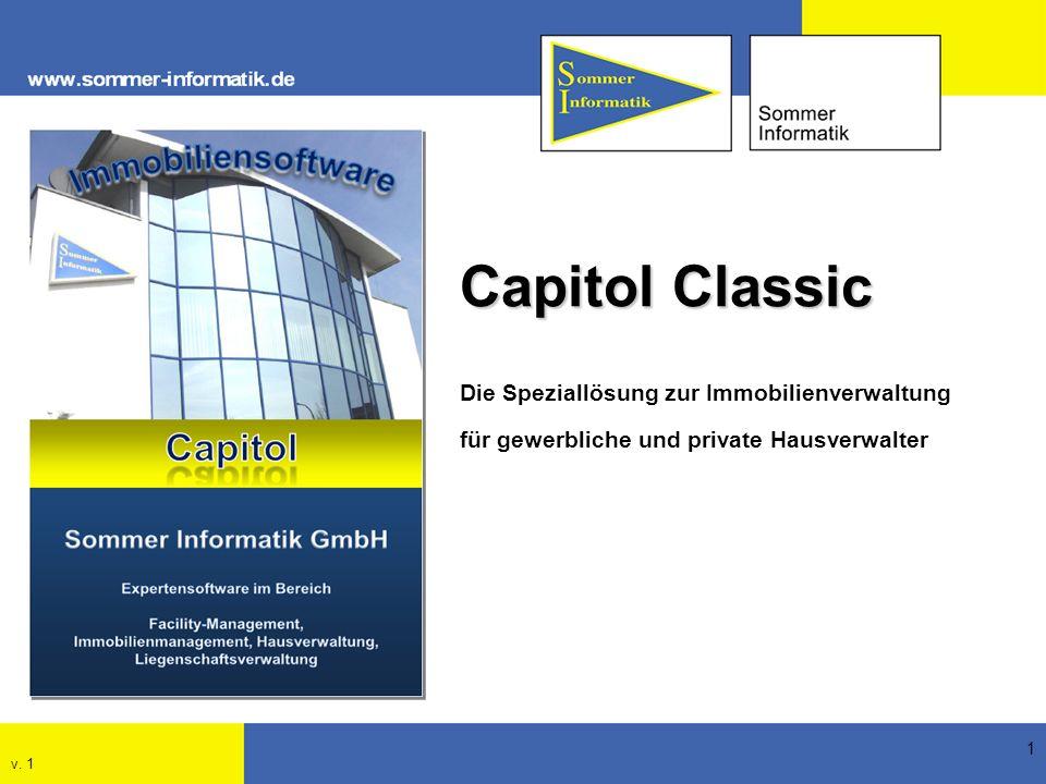 1 Capitol Classic Die Speziallösung zur Immobilienverwaltung für gewerbliche und private Hausverwalter v. 1