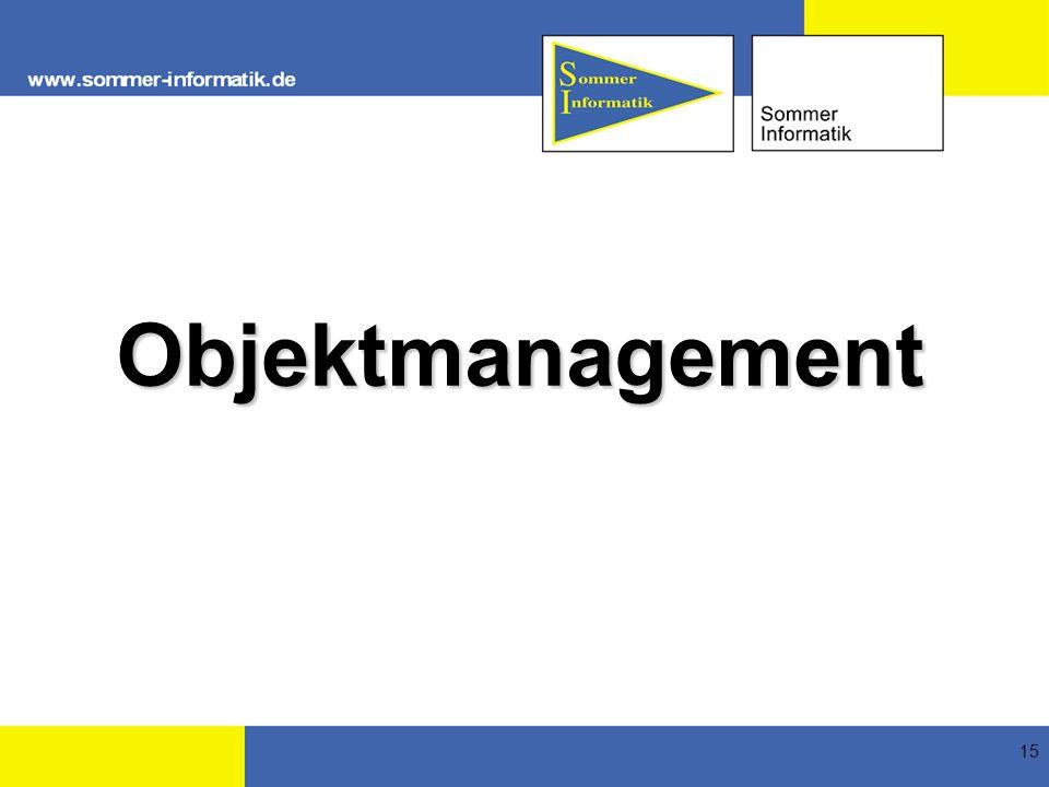 15 Objektmanagement