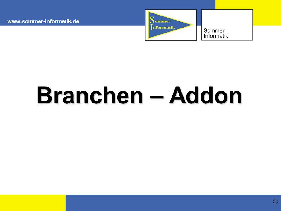 50 Branchen – Addon
