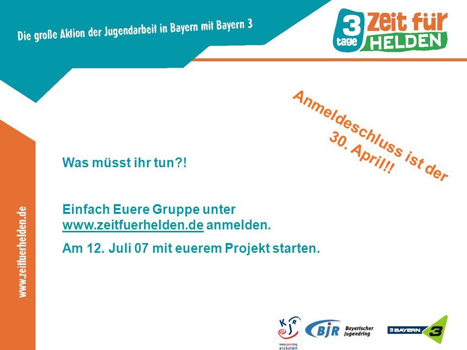 Was müsst ihr tun . Einfach Euere Gruppe unter www.zeitfuerhelden.de anmelden.