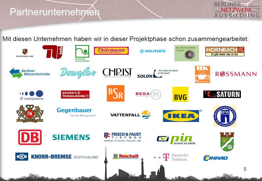 5 Partnerunternehmen Mit diesen Unternehmen haben wir in dieser Projektphase schon zusammengearbeitet: