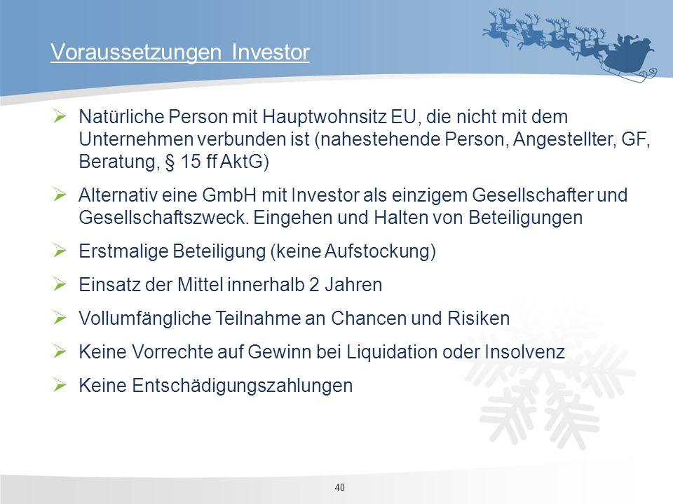 Natürliche Person mit Hauptwohnsitz EU, die nicht mit dem Unternehmen verbunden ist (nahestehende Person, Angestellter, GF, Beratung, § 15 ff AktG) Al