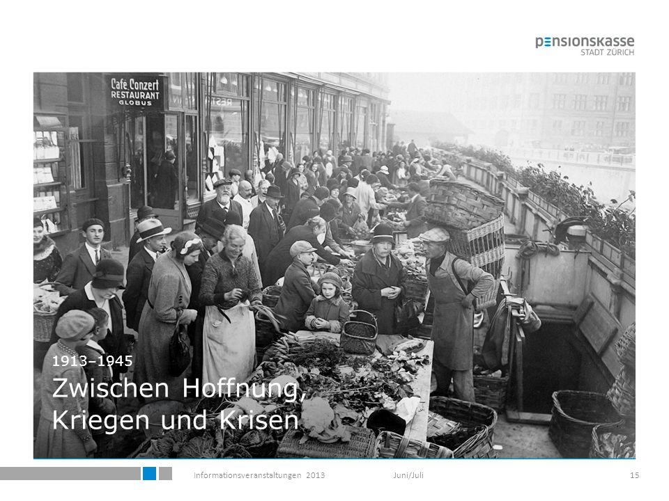 Informationsveranstaltungen 2013 Juni/Juli15 1913–1945 Zwischen Hoffnung, Kriegen und Krisen