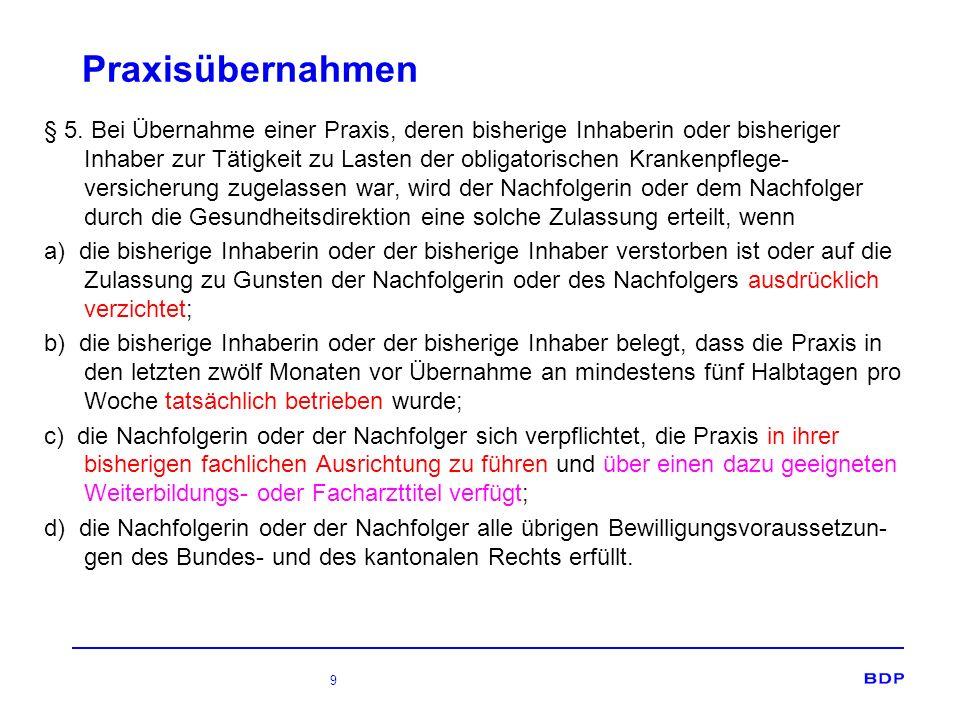 9 Praxisübernahmen § 5.
