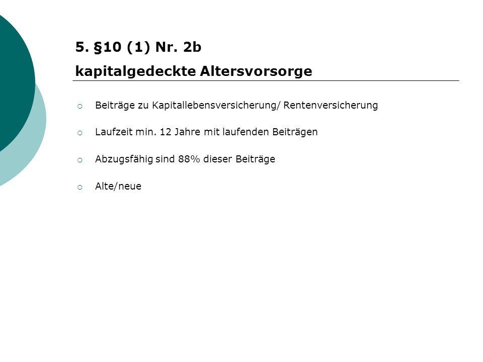 Beiträge zu Kapitallebensversicherung/ Rentenversicherung Laufzeit min.