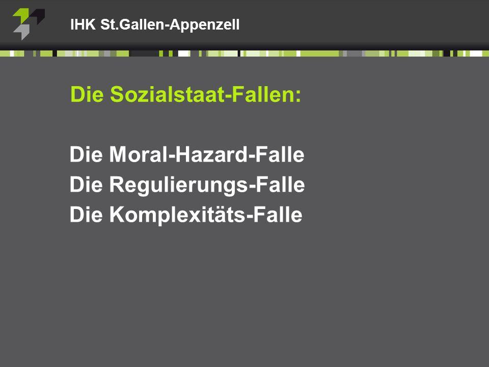 IHK St.Gallen-Appenzell Die Sozialstaat-Fallen: Die Moral-Hazard-Falle Die Regulierungs-Falle Die Komplexitäts-Falle