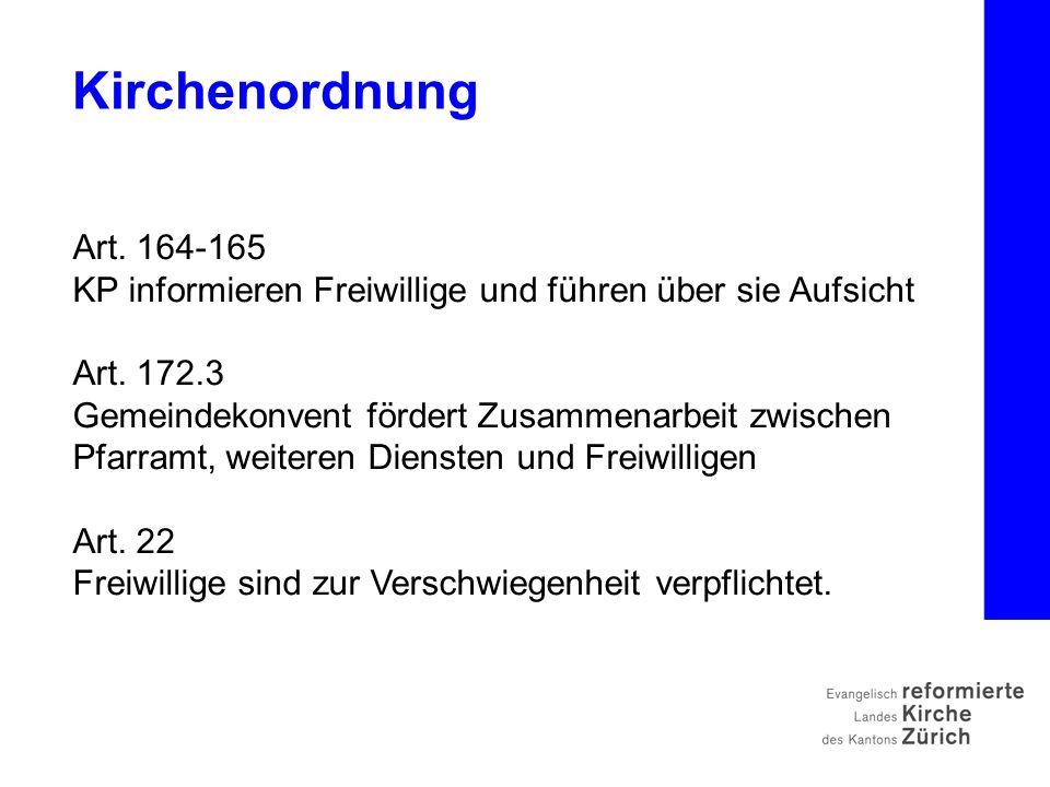 Art. 164-165 KP informieren Freiwillige und führen über sie Aufsicht Art.