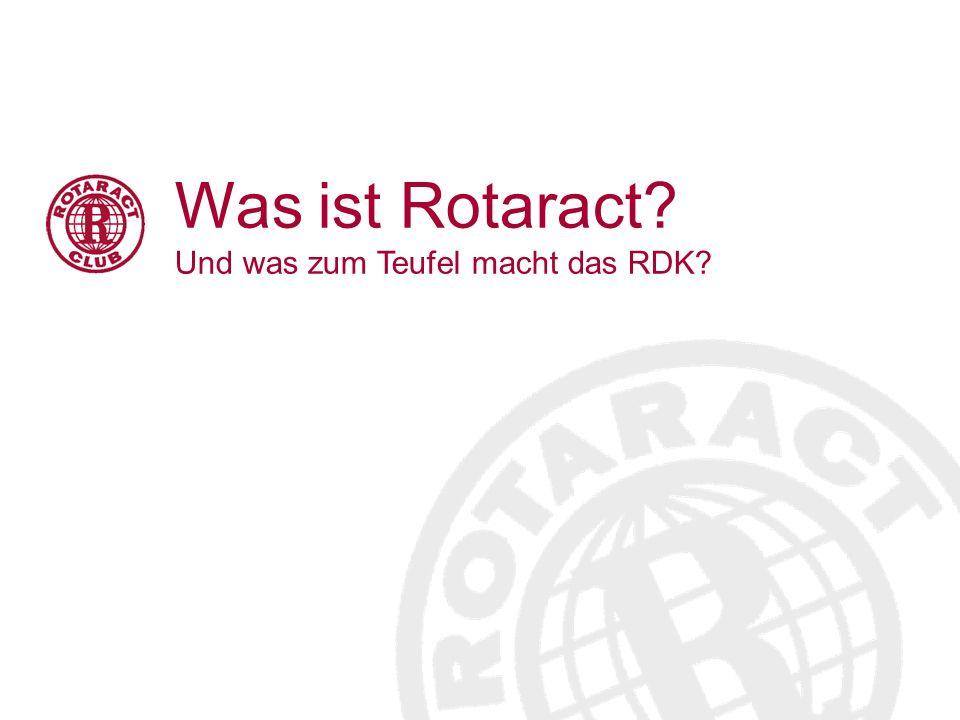 Rotaract Deutschland Komitee Das RDK besteht aus: Fünf Ressorts (Soziales, Internationales, Finanzen und Versicherung, Medien & Kommunikation (mit NEWS, Onlineredaktion, Presse- und Öffentlichkeitsarbeit und Verzeichnisredaktion) sowie IT Infrastruktur) Beauftragter des Deutschen Governorrates für Rotaract und Interact (RIB-DGR Norbert Meik, 09/10) Beauftragter für Datenschutz Beauftragter für Interact Beauftragter für RFPD