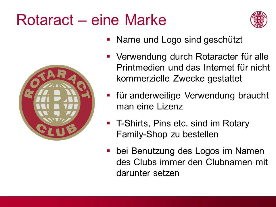 Rotaract – eine Marke Name und Logo sind geschützt Verwendung durch Rotaracter für alle Printmedien und das Internet für nicht kommerzielle Zwecke ges
