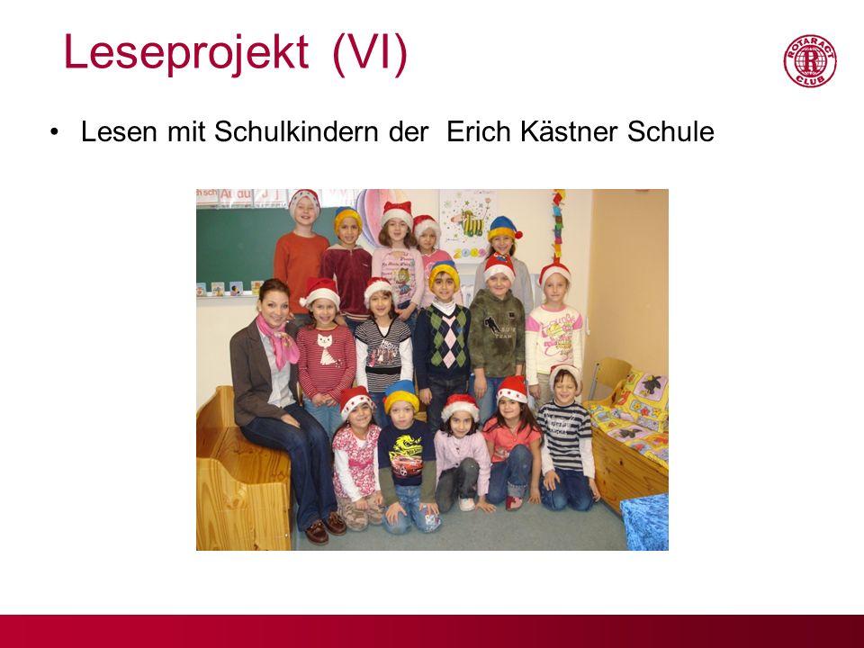 Leseprojekt (VI) Lesen mit Schulkindern der Erich Kästner Schule