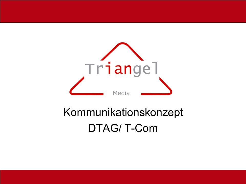 Ziele der Triangel Eröffnung eines besonderen Marktes mit der höchstmöglichen-dezidierten Zielgruppenansprache, die es jemals gab.