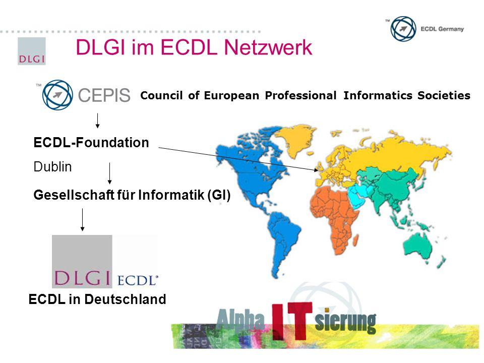 Lernmaterialien zum ECDL 10 Verlage publizieren ECDL ® Lernmaterial in Deutschland Freies Lern-/Übungsmaterial im Internet: www.klickdichschlau.at www.hs-golling.salzburg.at/easy4me/ www.informatikserver.at/000/ DLGI-Moodle (ab April 08 über DLGI WEB Site) Alle ECDL ® Lernmaterialien werden durch die DLGI überprüft und zertifiziert