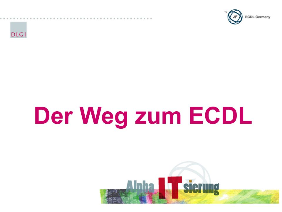 Der Weg zum ECDL