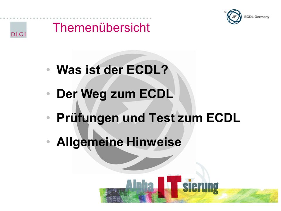 Prüfungen und Tests zum ECDL®