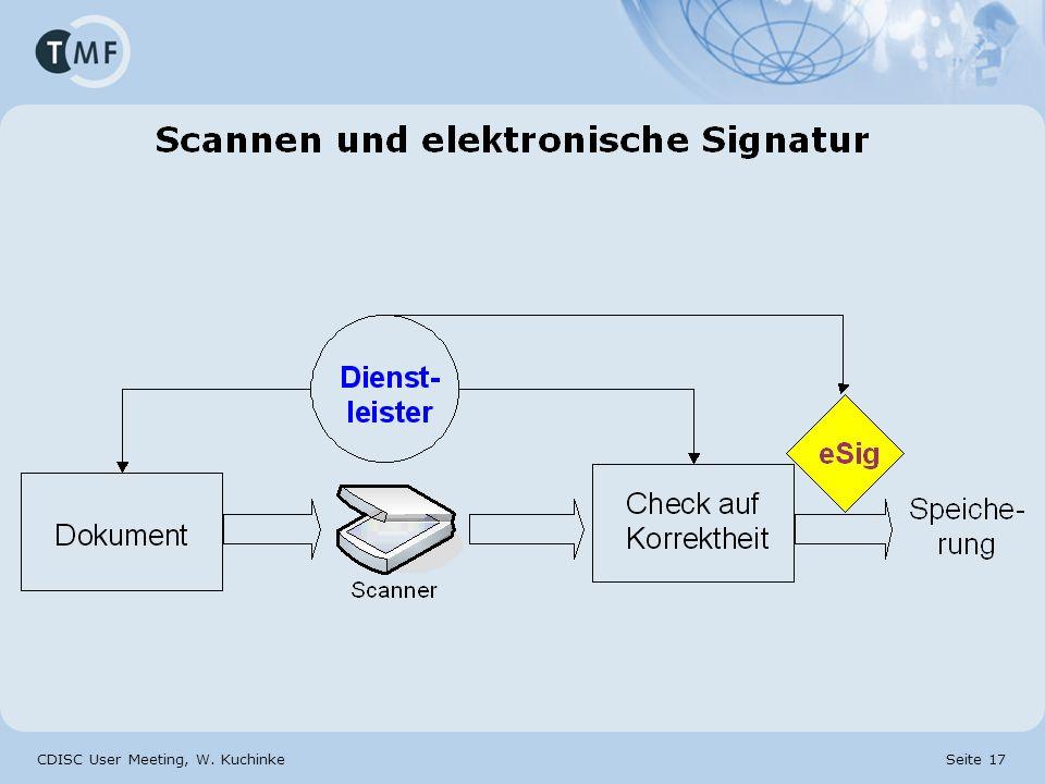 CDISC User Meeting, W. Kuchinke Seite 17