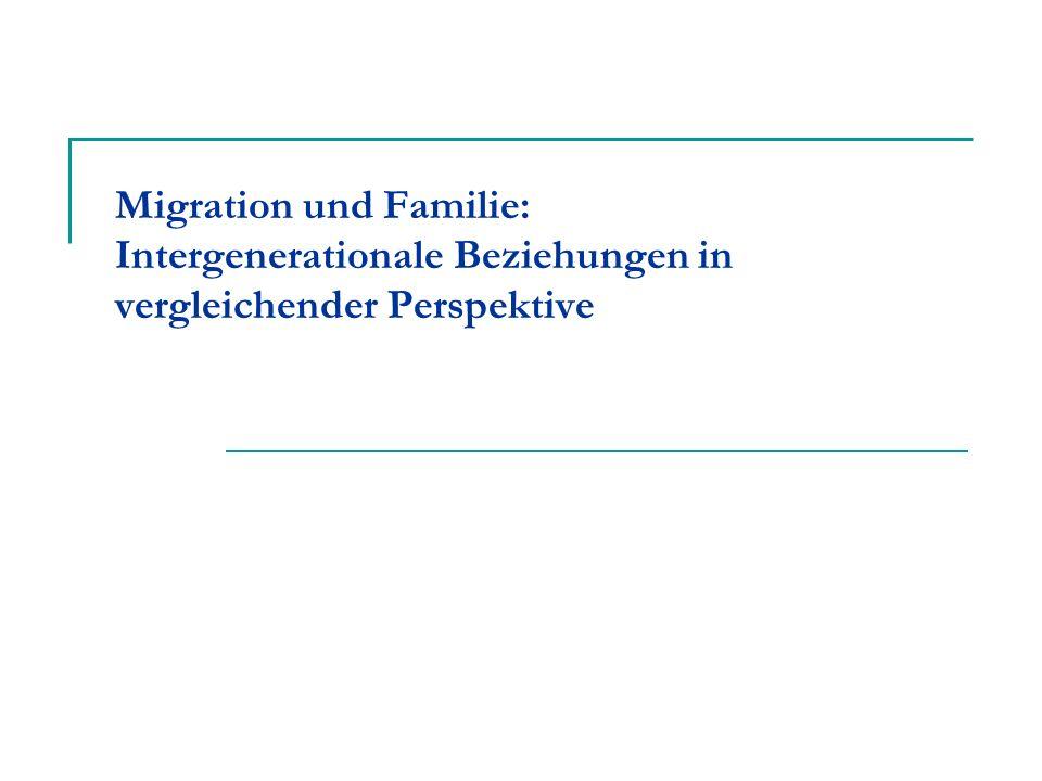 Migration und Familie: Intergenerationale Beziehungen in vergleichender Perspektive