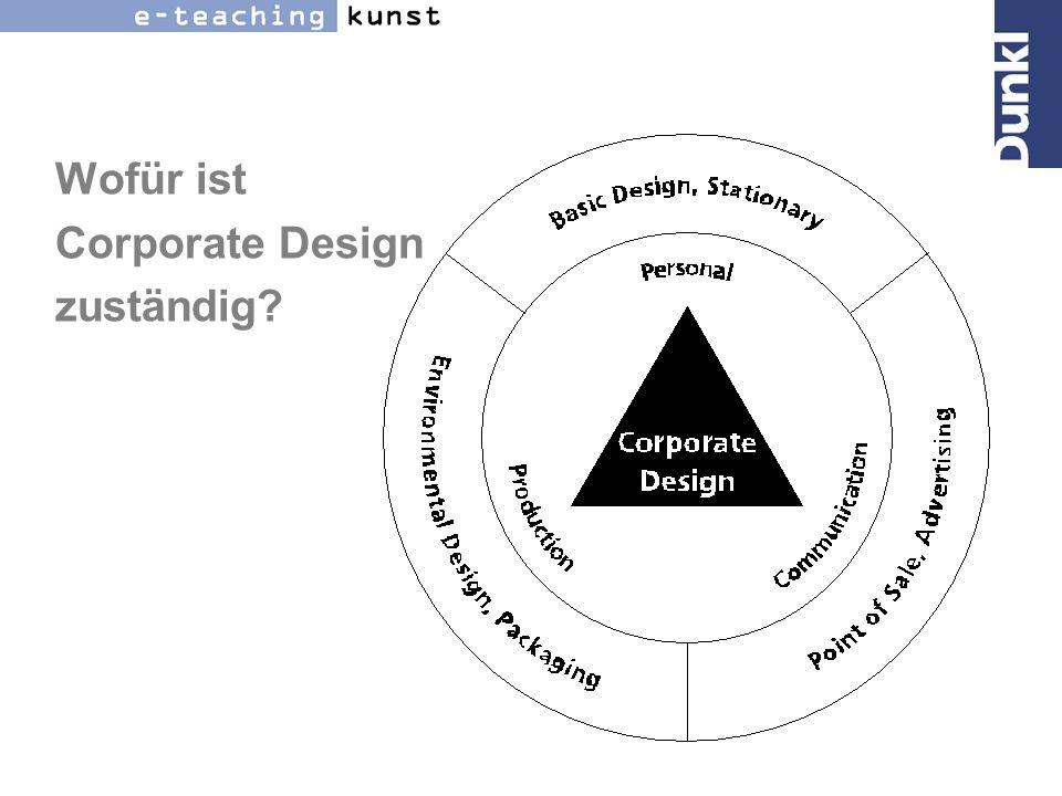 Wofür ist Corporate Design zuständig?