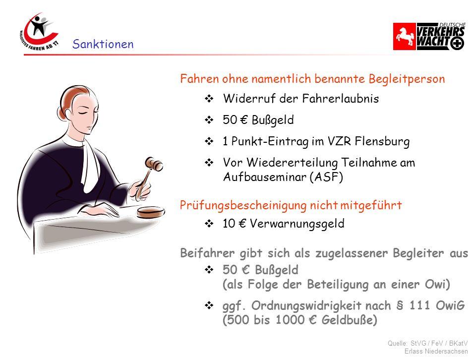 Widerruf der Fahrerlaubnis 50 Bußgeld 1 Punkt-Eintrag im VZR Flensburg Vor Wiedererteilung Teilnahme am Aufbauseminar (ASF) Quelle: StVG / FeV / BKatV