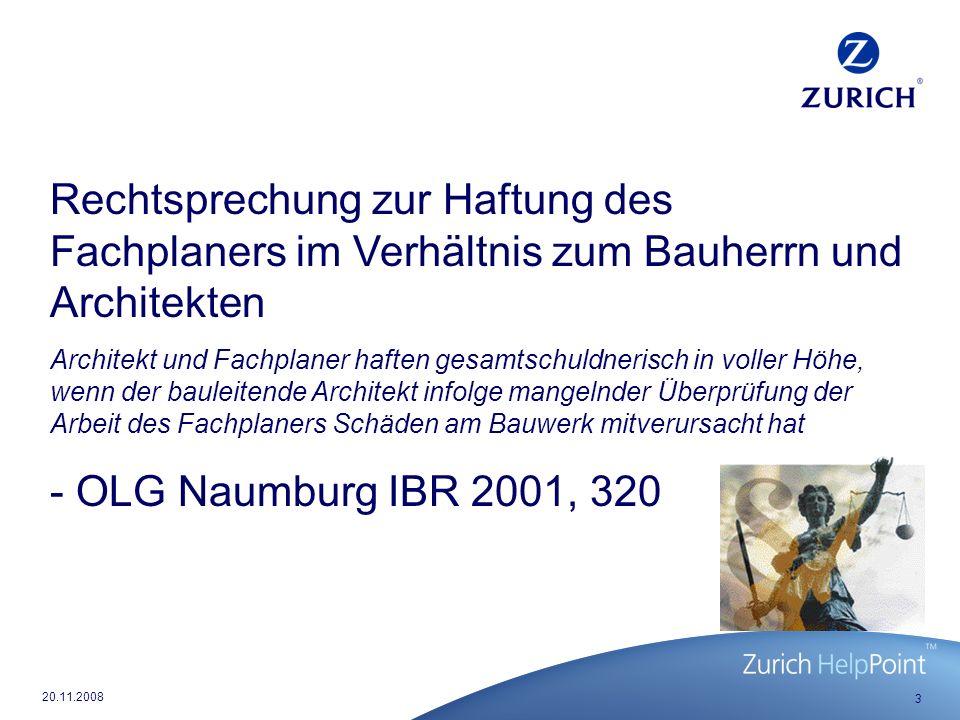 24 20.11.2008 Auslandsklausel, A IV Ziff.7 BBR Regelung korrespondiert mit § 4 Ziff.