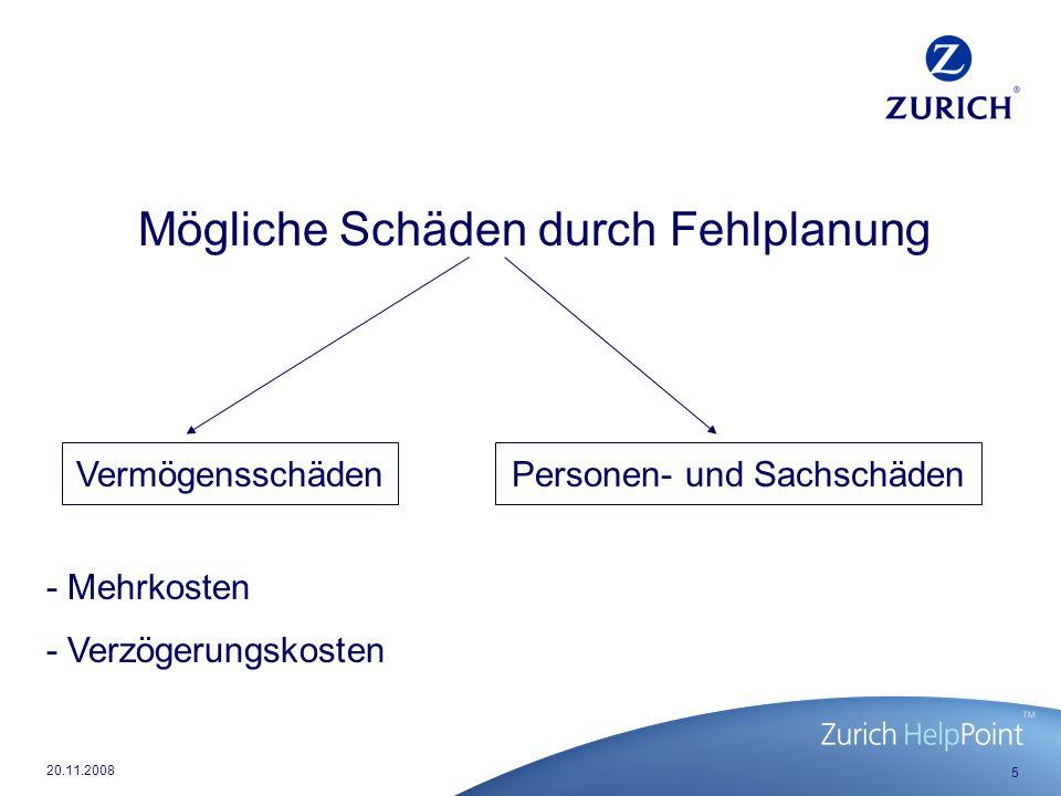16 20.11.2008 Das versicherte Berufsbild des Arch./Ing.