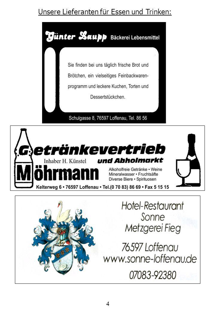 5 Herzlichen Willkommen in Loffenau, der TSV Loffenau und der Förderverein Jugendfußball begrüßen Sie sehr herzlich zum EnBW-Cup 2010.