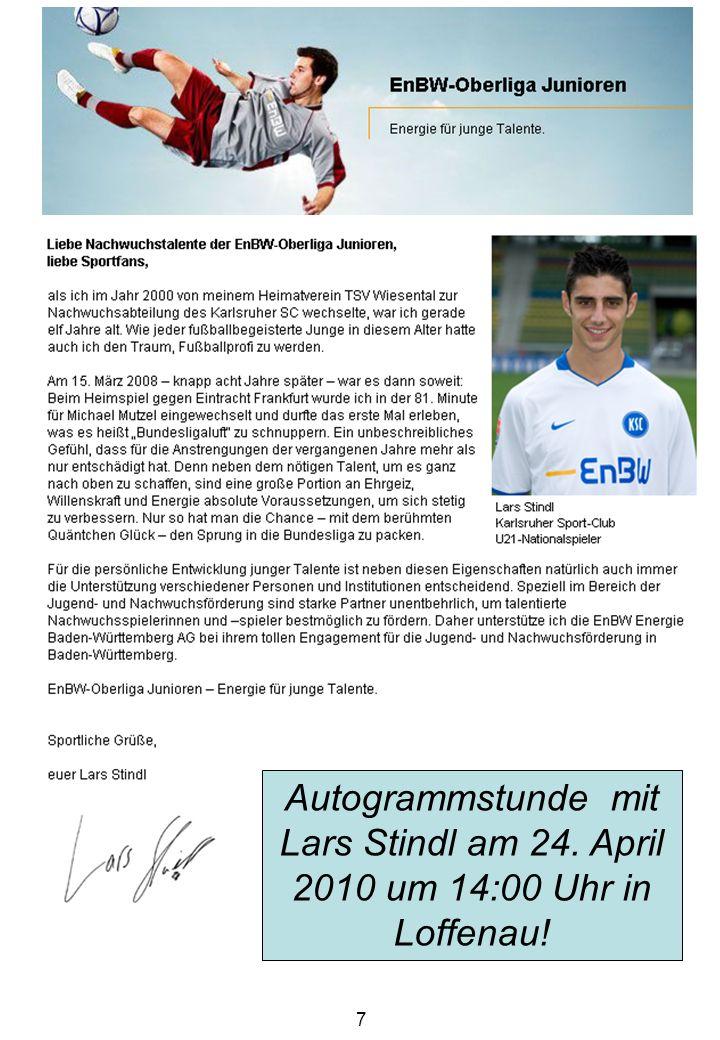 8 Herausgeber: Förderverein Jugendfußball Loffenau e.V.
