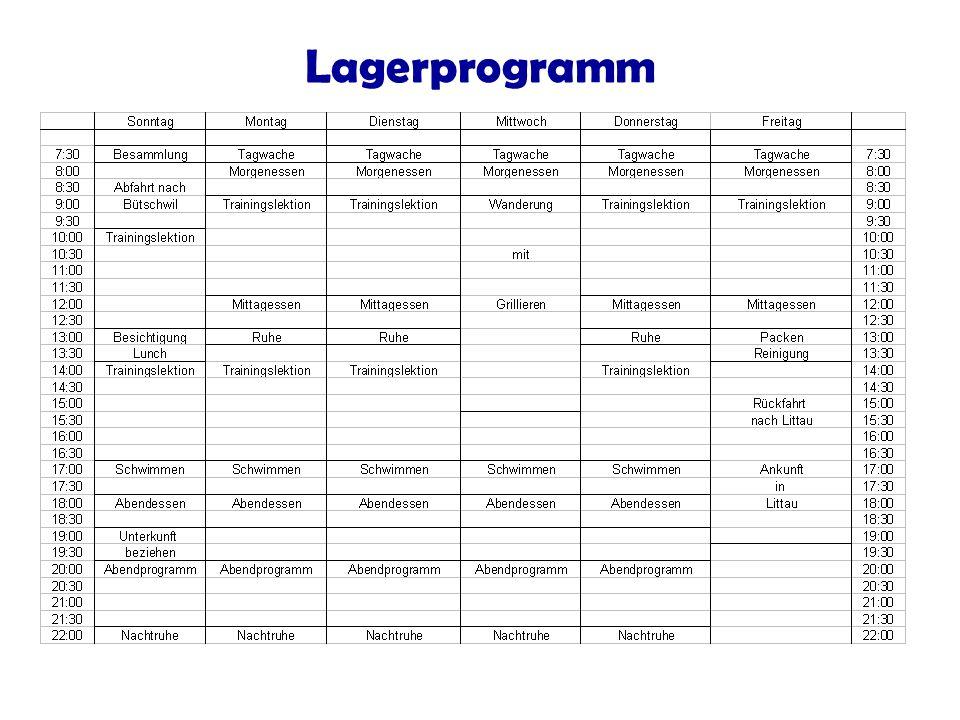 Lagerprogramm