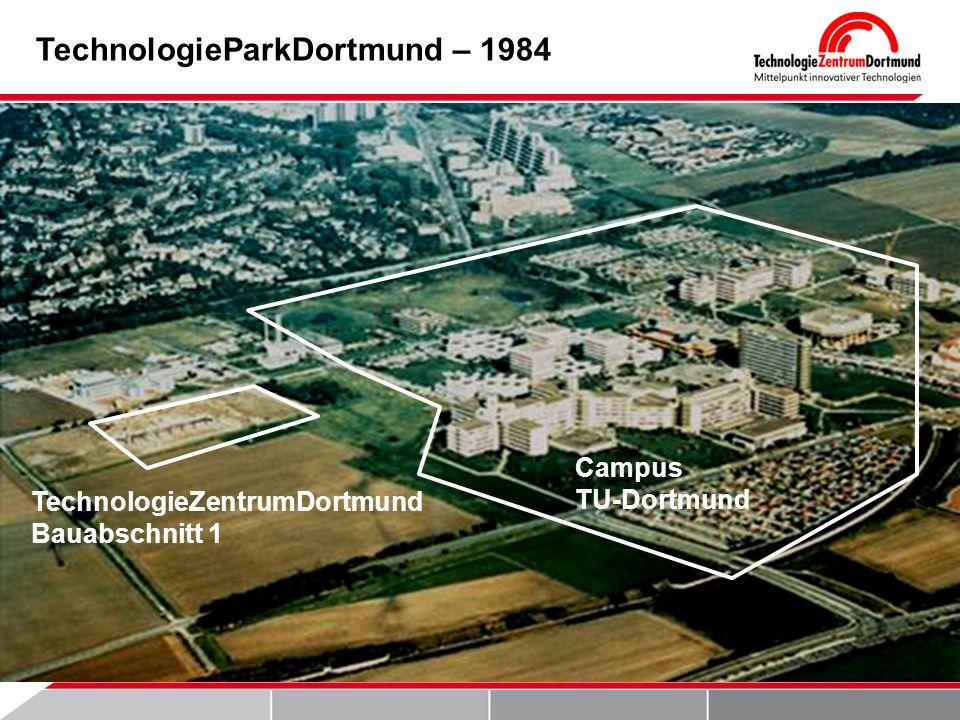 TechnologieParkDortmund – 1984 TechnologieZentrumDortmund Bauabschnitt 1 Campus TU-Dortmund